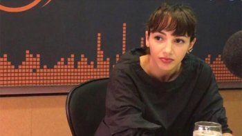 Thelma Fardín durante la entrevista en radio Metro.