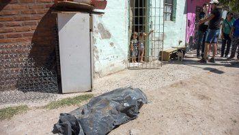 Ayer, los vecinos se reunieron a tratar el caso y expusieron el cuerpo tapado de un perro muerto en la noche.