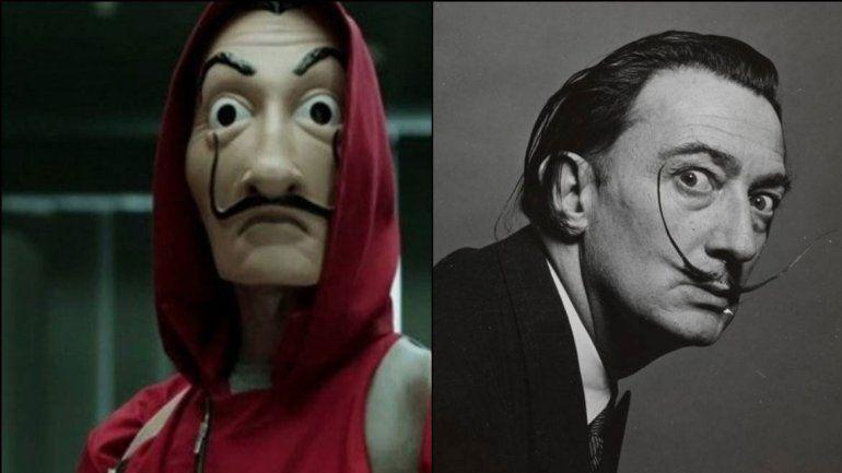 Careta polémica: La Fundación Dalí, contra La Casa de Papel por derechos de autor