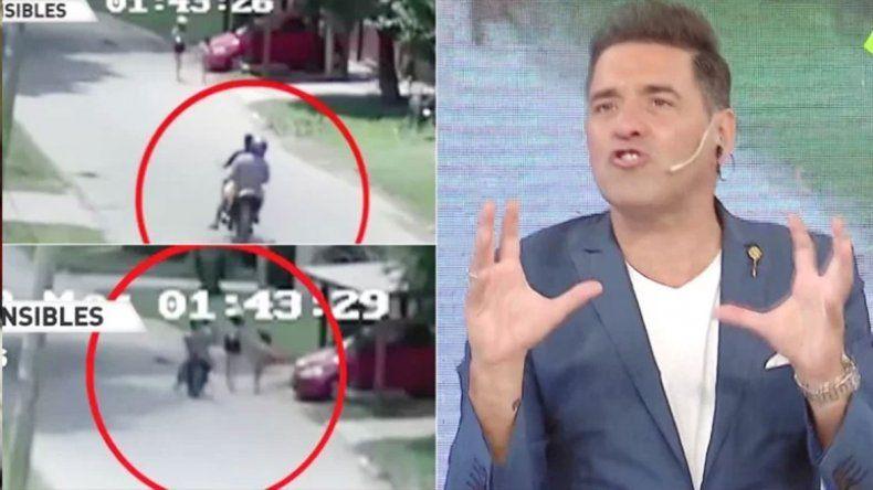 Iúdica explotó al ver el video de unos motochorros robándole a dos niñas