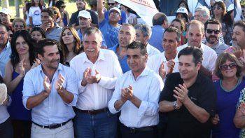 Rioseco, junto a los candidatos de Unidad Ciudadana-Frente Neuquino.