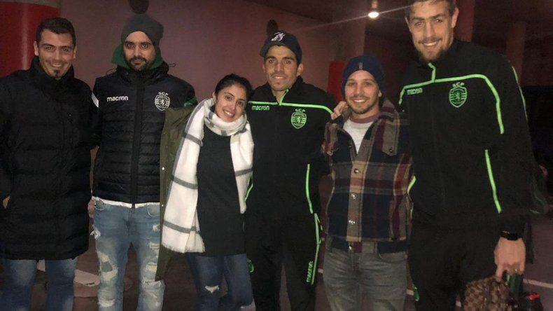 Marcos ayer dio una asistencia para el triunfo por penales y el pase a semis del Sporting. Luego subió esta foto.