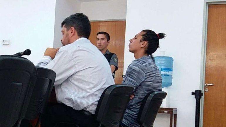 Facundo Velázquez durante la audiencia realizada ayer en Cutral Co.
