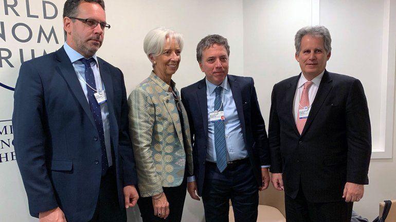 Lagarde estuvo con Dujovne y Sandleris en el Foro de Davos.