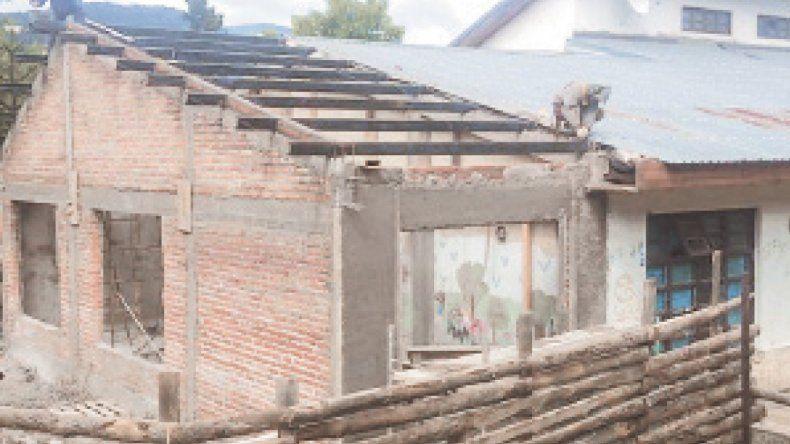 Avanzan las obras de la Escuela 179 de San Martín