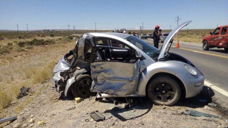 Choque frontal en la Ruta 22 causó cinco heridos