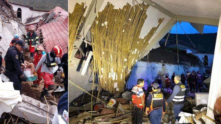 Una avalancha en una boda causó 15 muertos en Perú
