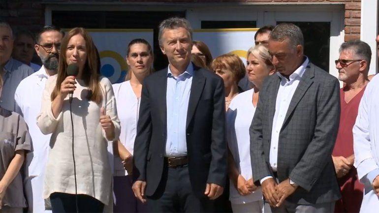 Macri y Vidal, otra vez juntos, reinauguraron un hospital en Mar del Plata