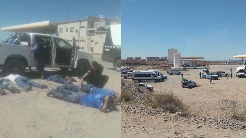 Encontraron un arma, balas y cuchillos en uno de los vehículos secuestrados a la UOCRA