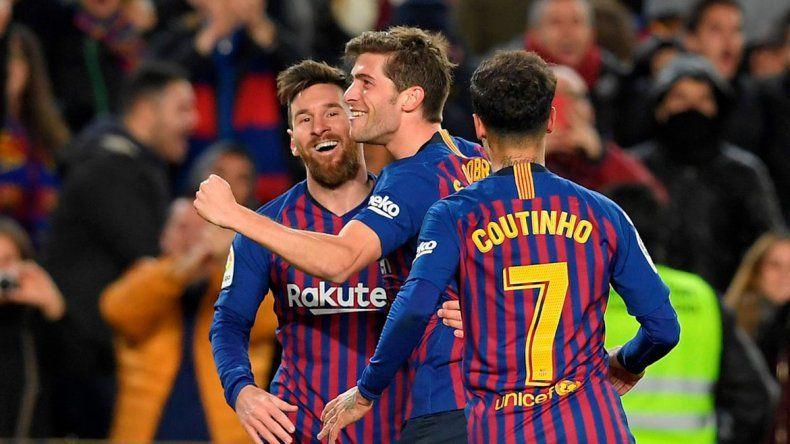 Barcelona llegó a las semis de Copa del Rey con una goleada ante Sevilla