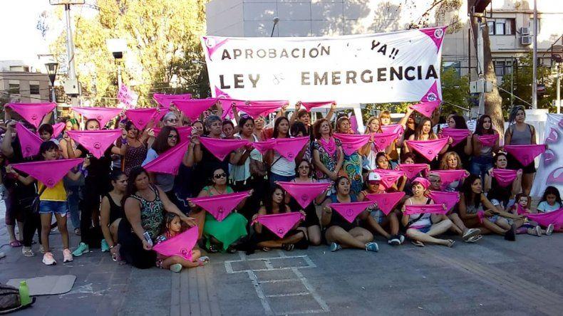 Con un pañuelazo rosa, reclamaron la emergencia nacional en violencia contra las mujeres