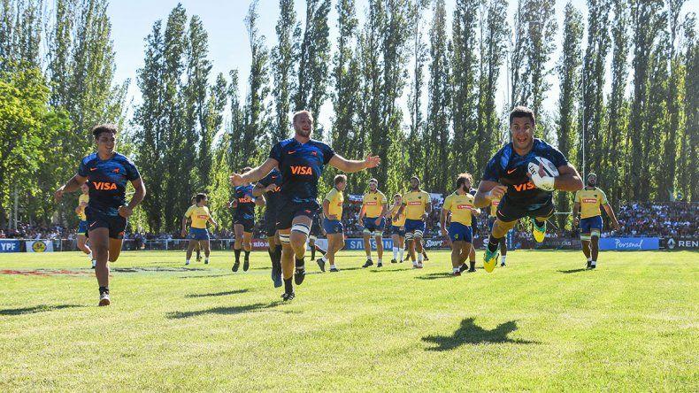 Argentina XV brindó un show de alto vuelo ante Brasil en Neuquén