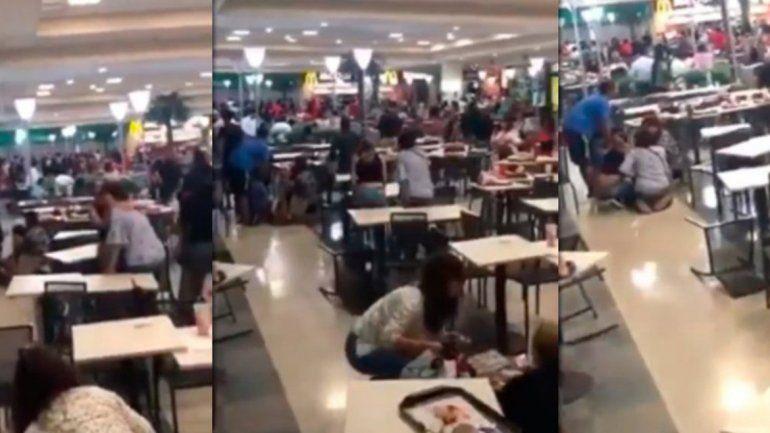 Pánico en pleno shopping: robaron y quisieron escaparse a los tiros