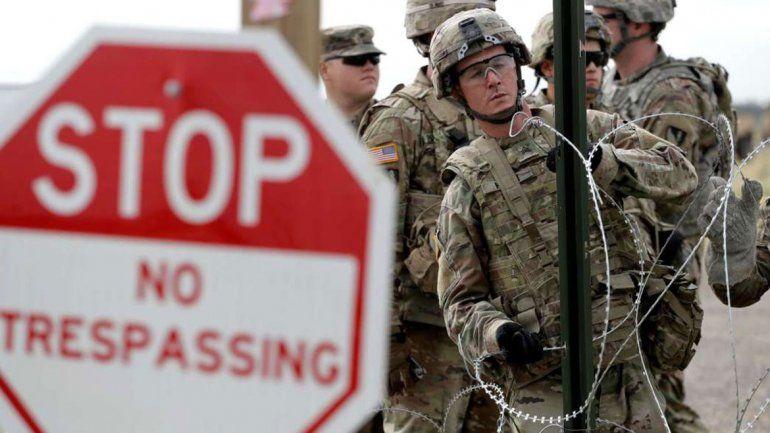 Trump mandará a 3750 soldados a la frontera con México