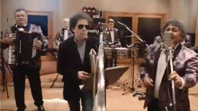Calamaro grabó con Los Palmeras: se filtró el video