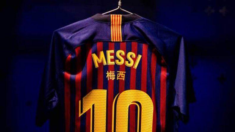 La extraña camiseta que usará Messi ante el Real Madrid