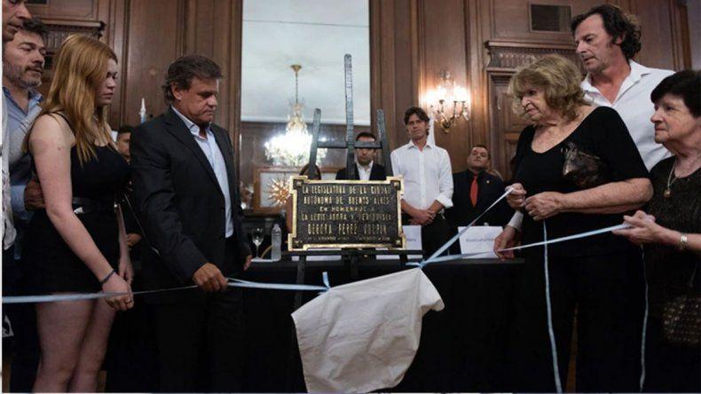 A un año de su muerte, homenajearon a Débora Pérez Volpin en la Legislatura porteña