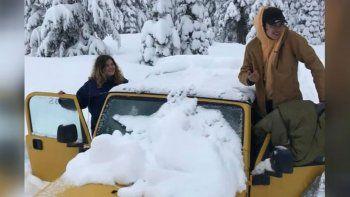 pareja sobrevive de milagro a una tormenta de nieve