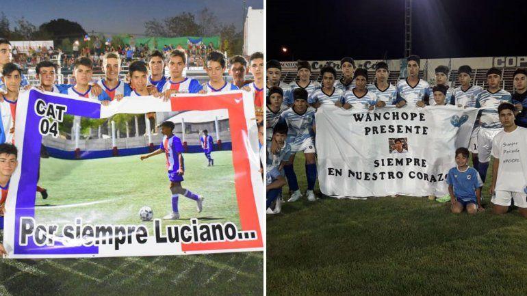 Atlético Neuquén y Alianza homenajearon a dos pibes que murieron en el verano