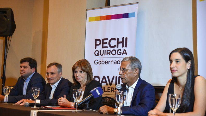Quiroga recibió el respaldo de Patricia Bullrich