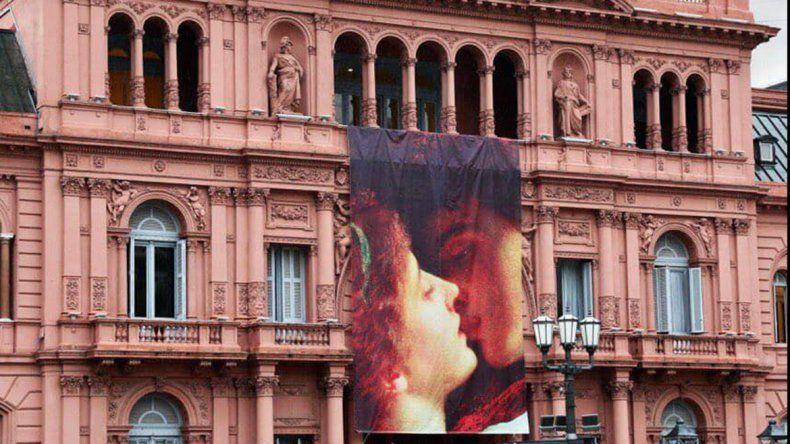 El Día de los Enamorados copó hasta la Casa Rosada en Buenos Aires