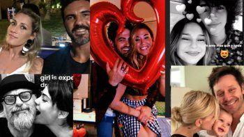 dia de san valentin: ¿como festejaron los famosos?