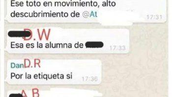 escandalo en una universidad por chats sexuales