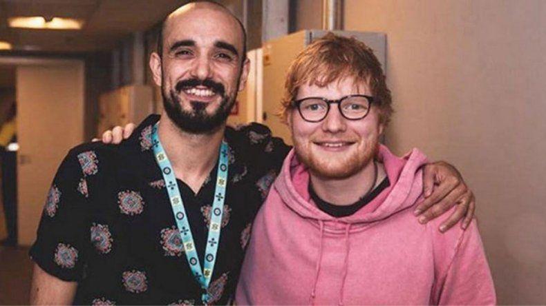 Abel Pintos se rindió a los pies de Ed Sheeran