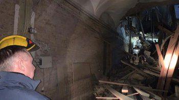 rusia: cayo el techo de una universidad y de milagro no hubo muertos
