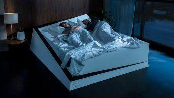 una cama inteligente mantiene a la pareja cada uno de su lado