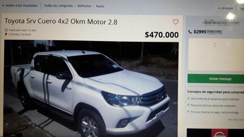 Gitanos lo estafaron en $84 mil en la venta de una Hilux