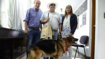 la muni le dio free pass a un perro guia