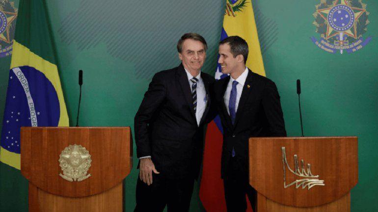 Bolsonaro recibió a Guaidó como a un jefe de Estado