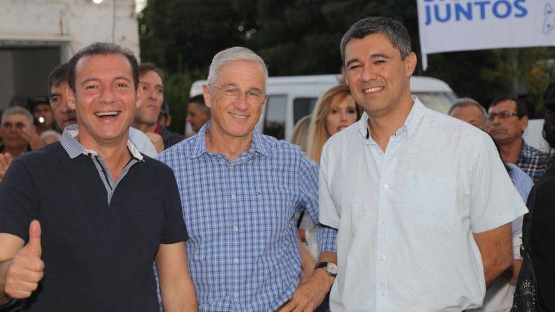 Gutiérrez y Bertoya encabezaron un multitudinario acto en El Chañar