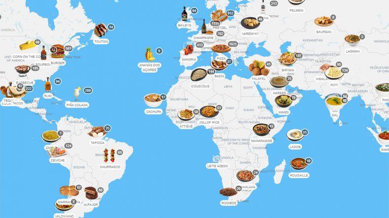 Crearon un ranking con las comidas más populares