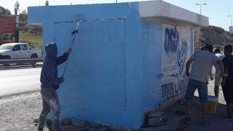 Tras la victoria en las urnas, el MPN inició el operativo limpieza de las calles