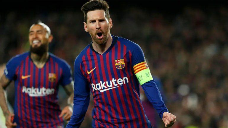 Con dos goles de Messi, Barcelona goleó y pasó a cuartos en la Champions