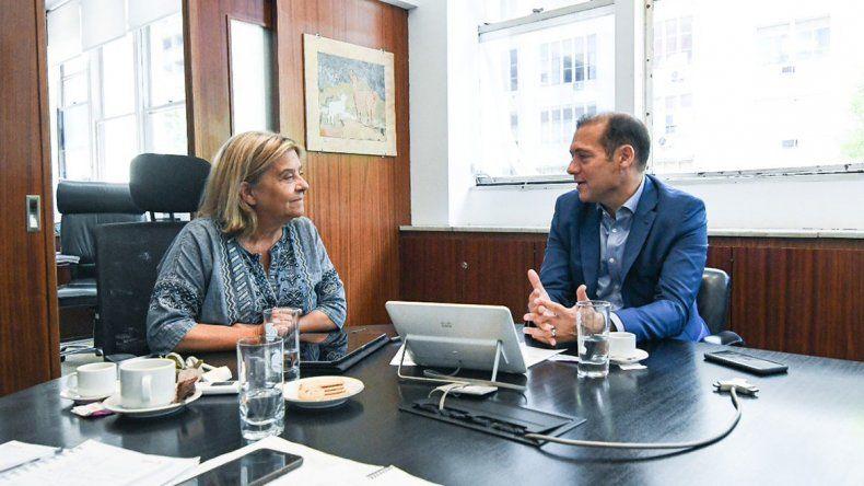 Gutiérrez trató en Vialidad las obras para la provincia