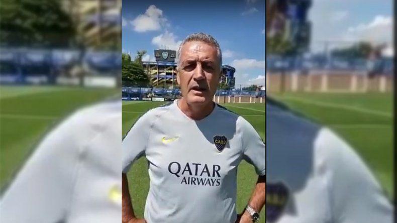 Polémica por un video de Alfaro pro-vida y con la ropa oficial de Boca