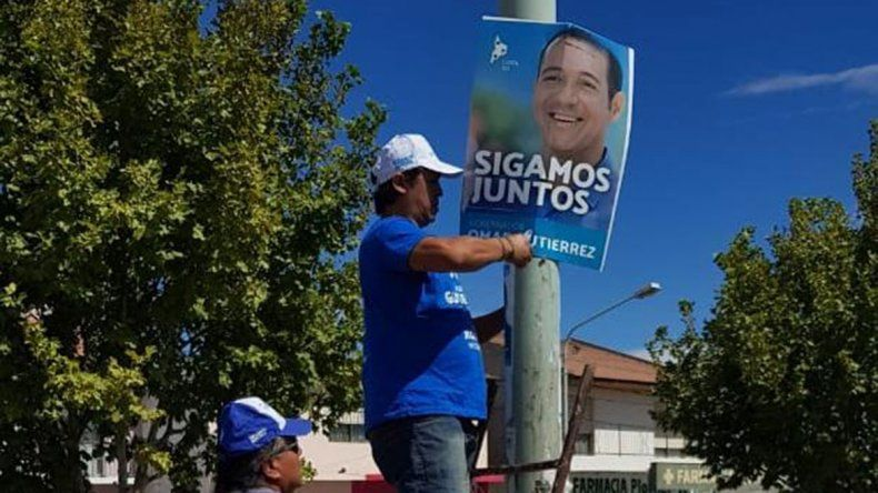 El MPN ya limpia la propaganda de campaña en Plottier