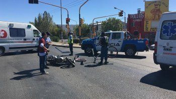 en media hora, se registraron tres accidentes con motos