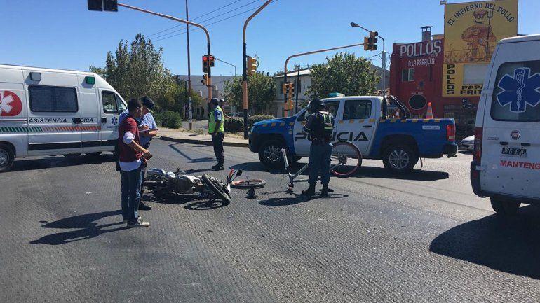 Tarde de terror: en media hora, se registraron 3 accidentes con motociclistas