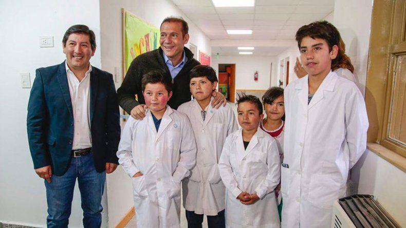 Gutiérrez inauguró la ampliación de la Escuela 261 de Moquehue