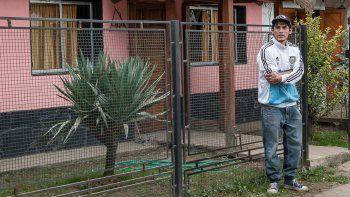 Matías Ancatel, en el 2015, cuando fue detenido por un robo.
