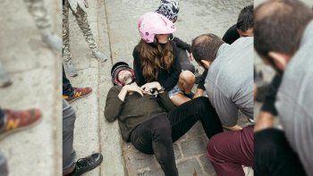 mira el accidente de tini stoessel y sebastian yatra mientras grababan un videoclip