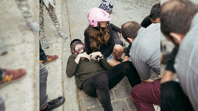 Video: Tini Stoessel y Sebastián Yatra tuvieron un accidente mientras grababan un clip