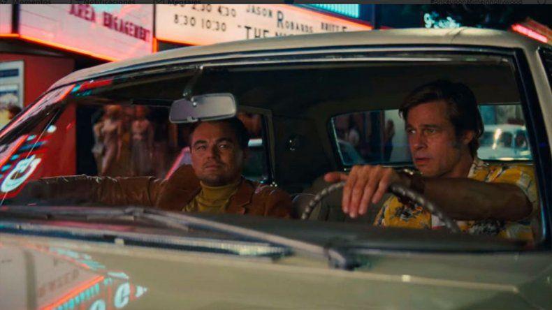 Una dupla explosiva: Tarantino lanzó el primer adelanto de su film con Brad Pitt y Leo DiCaprio