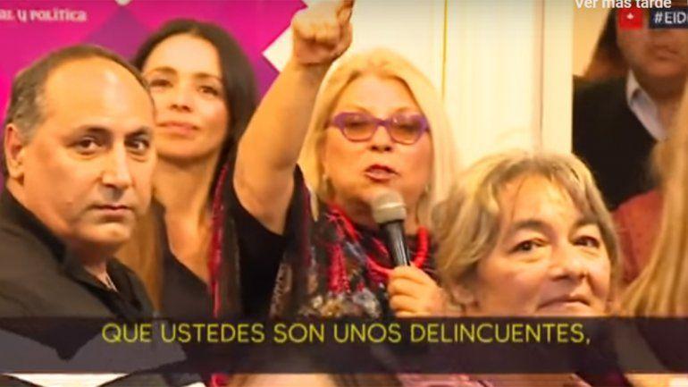 Carrió polémica: la diputada atacó a periodistas del canal C5N