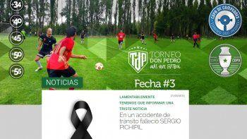 el futbol amateur de luto por la muerte de pichipil