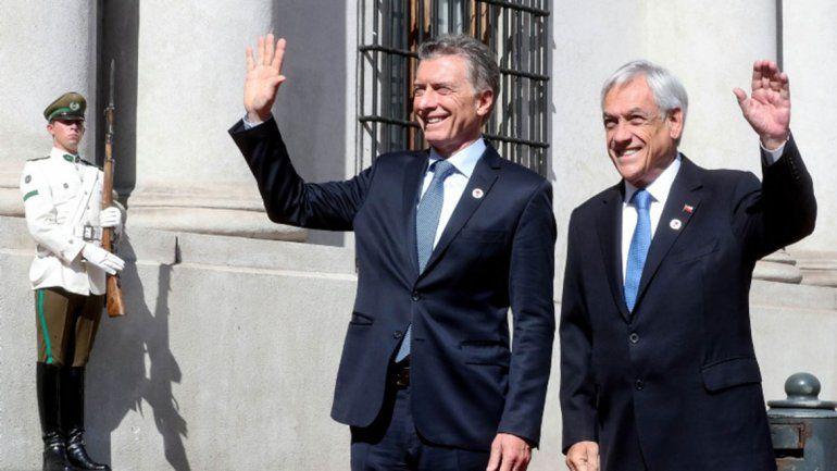 Macri y Piñera, al frente del flamante bloque Prosur